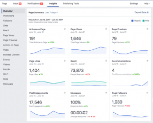 Facebook insights, facebook marketing, aanha services facebook marketing