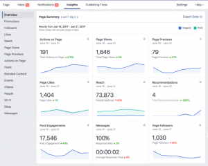 Facebook insights, facebook marketing, aanha services facebook marketing